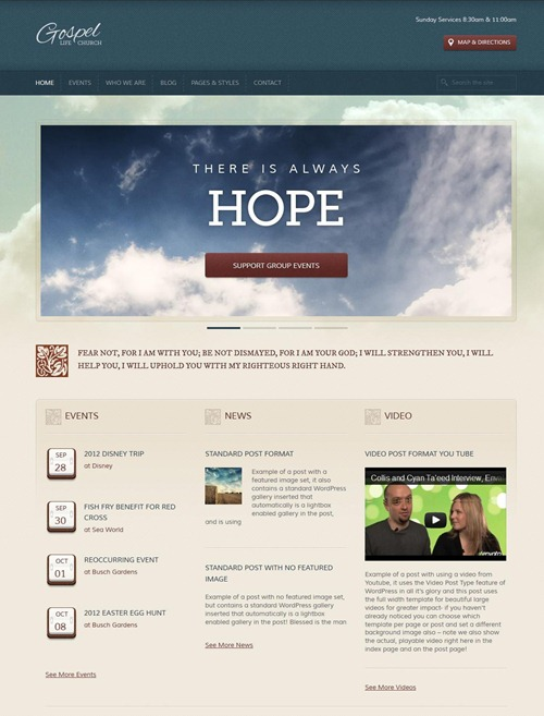 Gospel - Premium Responsive WordPress Theme