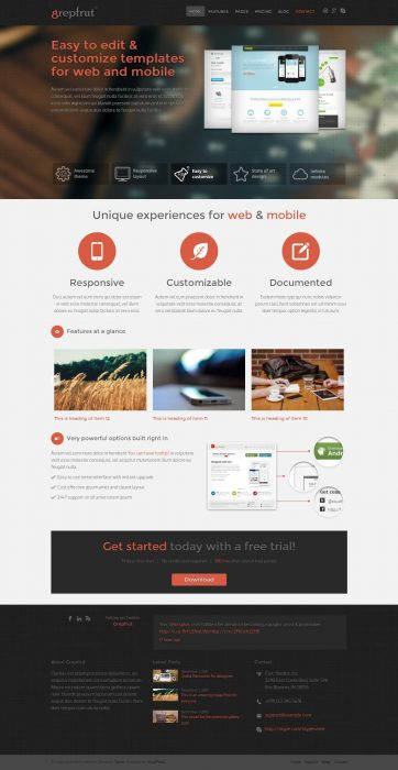 Grepfrut Software WordPress Theme