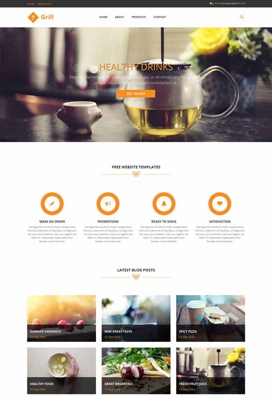 Grill HTML5 template