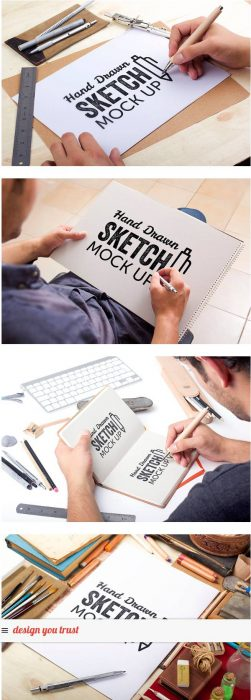 Hand Drawn Sketch Mock-ups – Free Version