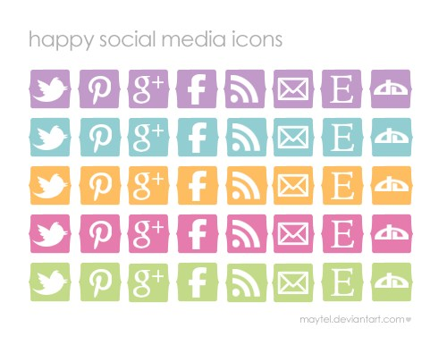 Happy Social Media Icons