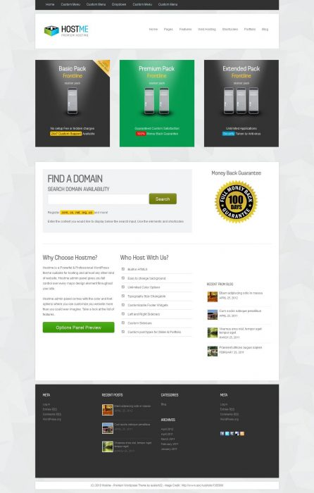 Hostme Premium Hosting & Business WordPress Theme