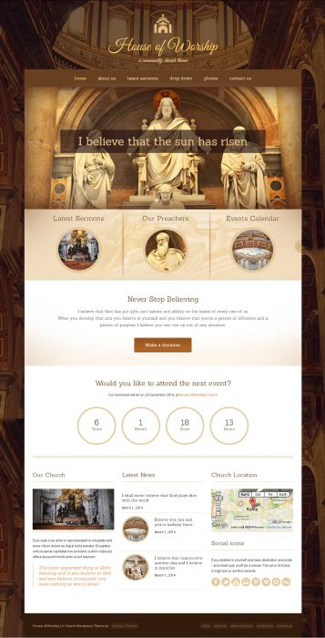 House Of Worship - Church WordPress Theme