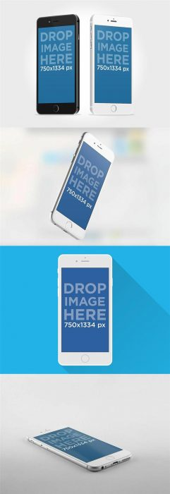 IPhone 6 Mockup PSDs (Custom)