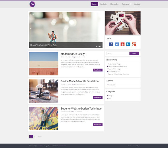 100 best personal blog wordpress themes techclient for Word press blog templates