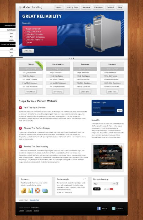 Modern Hosting - WordPress Version