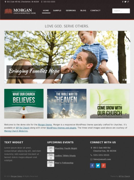 Morgan - WordPress Church Theme