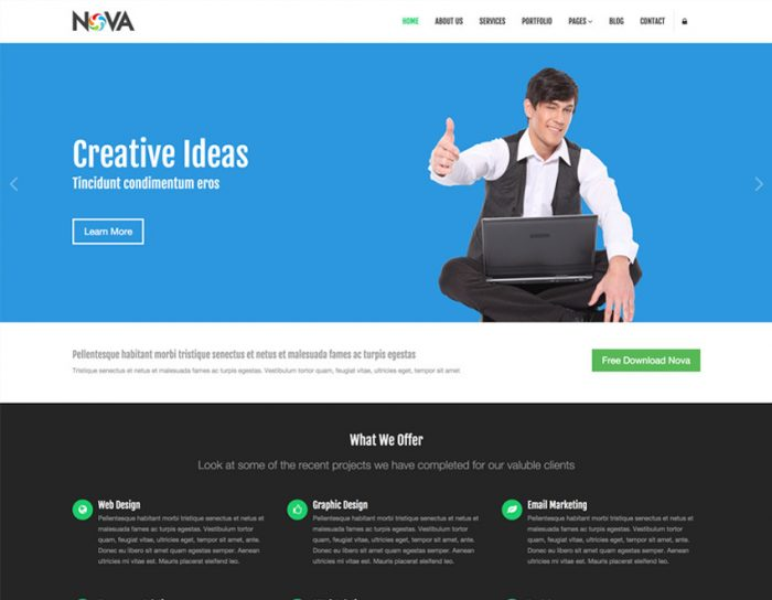 Nova – Multipurpose Site Template