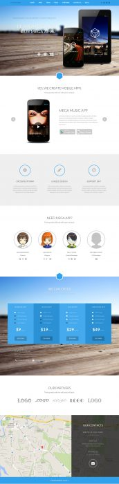 Pandora Box Onepage WordPress Template