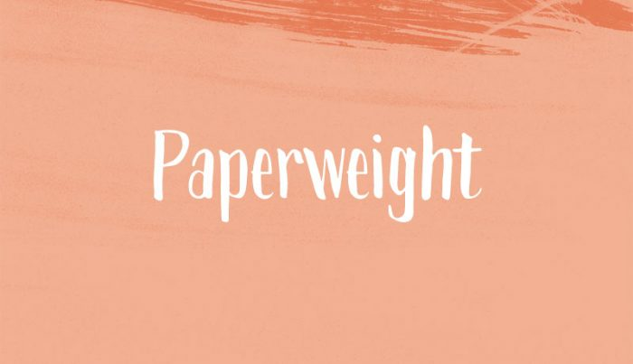 Paperweight Free Font