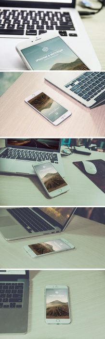 Photorealistic iPhone 6 Plus Mockups (Custom)
