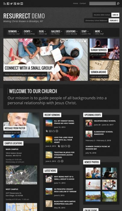 Resurrect - Church WordPress Theme