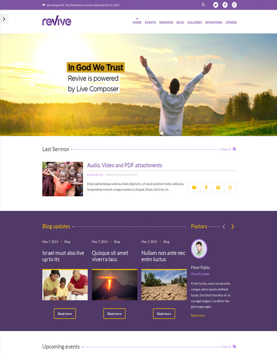 Revive - Events & Donations WordPress Theme