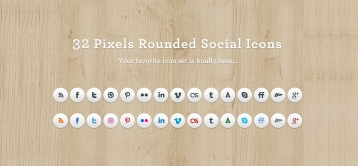 Rounded Social Media Icons Set