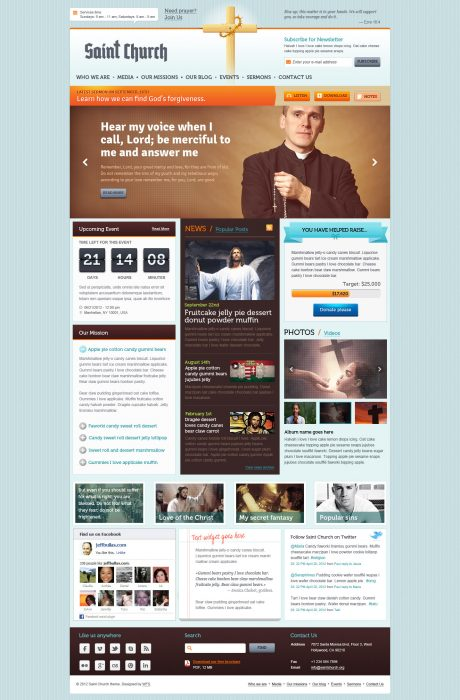 SaintChurch Responsive Church Theme