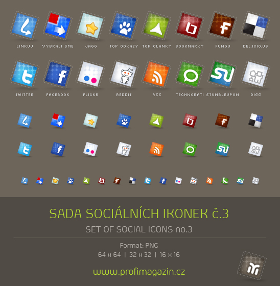 Set of social icons no.2
