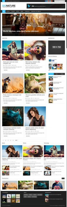 Signature Magazine News Blogger Template