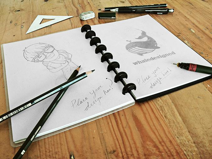 Sketch Book Mockup PSD (Custom)