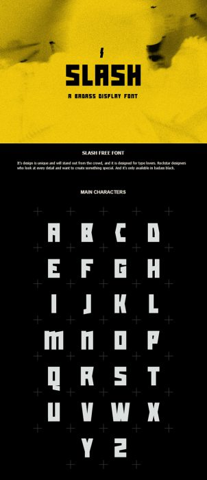 Slash – A Free Display Font