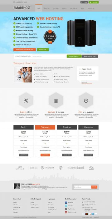 Smart Host - Responsive-Wordpress-theme