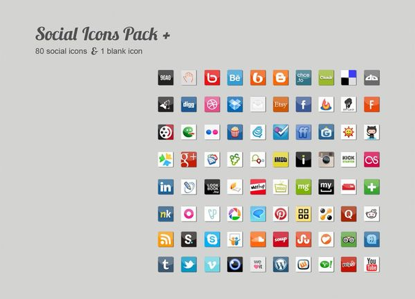 Social Icons Pack +