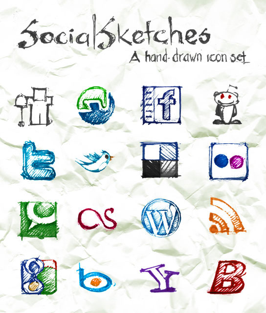 Social Sketches icons