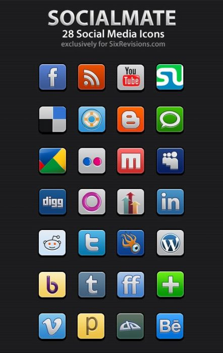 SocialMate icons