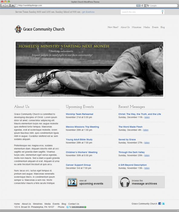 Stylish Free Church WordPress Theme