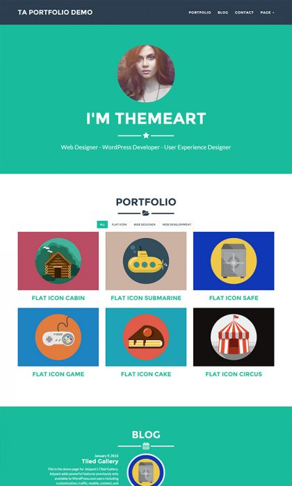 TA Portfolio WordPress Theme