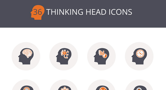 Thinking Heads Icon PSD