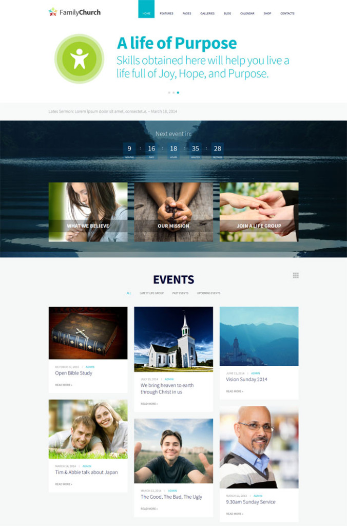 Troika - Multipurpose WordPress Church Themes