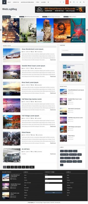 35 best free responsive blogger templates 2015 techclient for Pro photo blog templates