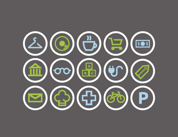 towndots - Free City Shops ICON SET
