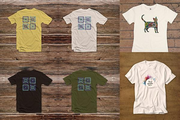 3 Free T-shirt Mock-ups (Custom)