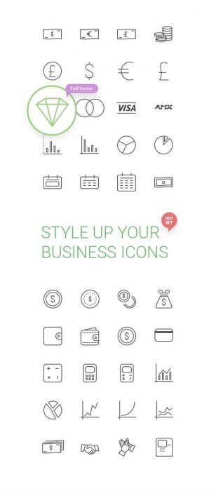 50 Free Business Icons by Creative Tail (Custom)