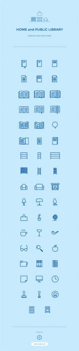 50 Free Library  vector Icons (Custom)