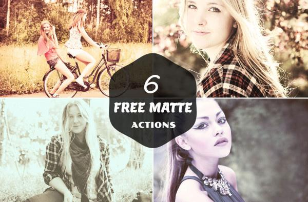 6 Free Matte Actions (Custom)