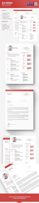 A4 Swiss Resume (Custom)