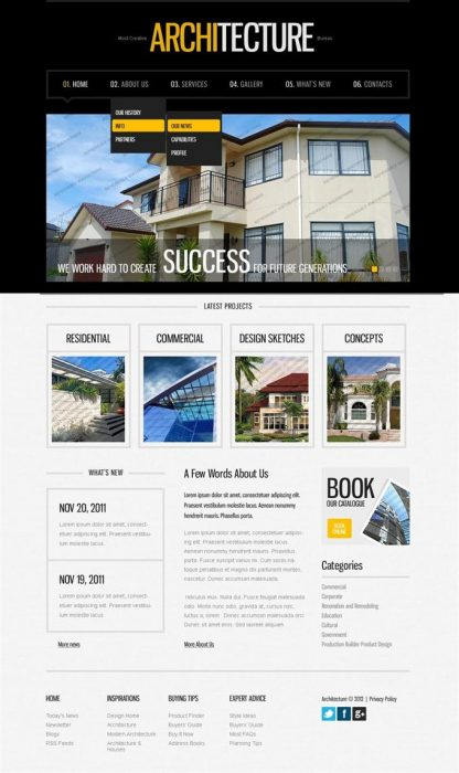 ARCHITECTURE Free WordPress Theme (Custom)