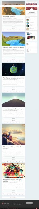 Addiction Responsive Personal Blog Blogger Template (Custom)