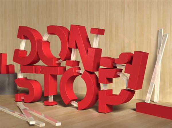 Adobe Photoshop tutorial Create 3D Rubber and Glass Text (Custom)