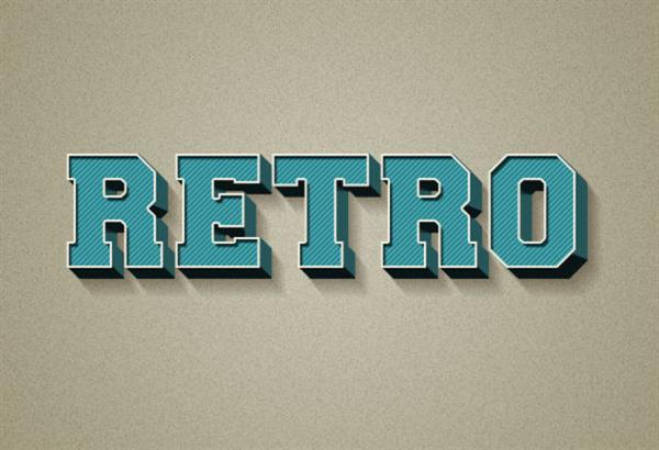 Adobe Photoshop tutorial Create a 3D Retro Text Effect Using Layer Styles (Custom)