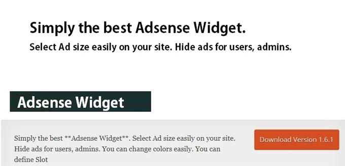 Adsense Widget (Custom)
