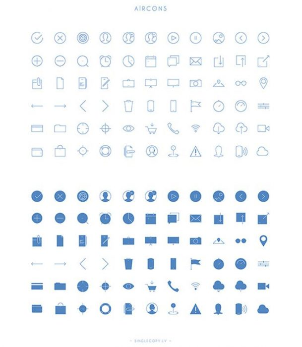 Aircons – 66 Free Vector Icons (Custom)
