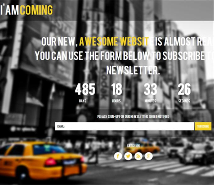 Am coming Under Construction Mobile Website Template (Custom)