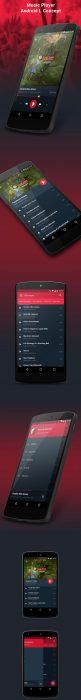 Android L Player Concept (Custom)