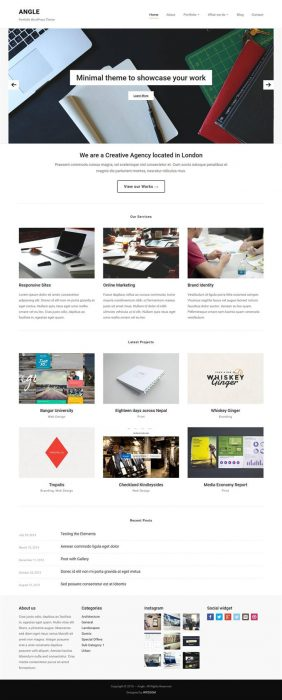 Angle Portfolio WordPress Theme (Custom)