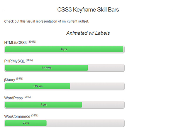 Animating Personal Skill Bars With CSS3 Keyframes