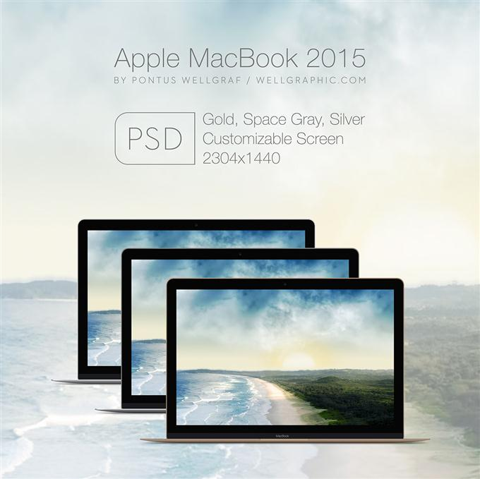Apple MacBook 2015 Mockup PSD (Custom)