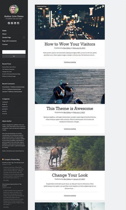 Author – Free WordPress Theme (Custom)